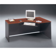"Bush Business Furniture Series C Corner Desk in Hansen Cherry 72""W Right - W24423"