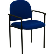 Flash Furniture Navy Fabric Stacking Chair with Arms - BT-516-1-NVY-GG