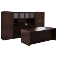 Mayline Aberdeen Executive Desk Package Mocha - AT9