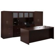 Mayline Aberdeen Executive Desk Package Mocha - AT9