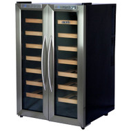 NewAir 32 Bottle Dual Zone Thermoelectric Wine Cooler Stainless Steel & Black - AW-321ED