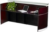 Mayline Napoli Veneer Reception Station Desk Mahogany - NRS