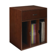 Mayline Sorrento Hutch Organizer, Vertical Bourbon Cherry - SHV-SCR