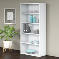 "Bush Business Furniture Studio C Bookcase 5-shelf 36""W White - SCB136WH"