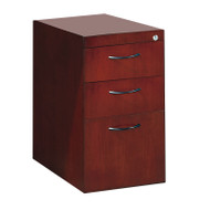 Mayline Corsica or Napoli Veneer Pedestal File for Credenza or Return 3-Drawer, Assembled Mahogany - CBBFC