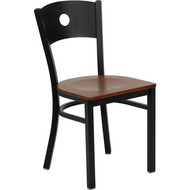 Flash Furniture Circle Back Metal Restaurant Chair with Cherry Wood Seat - XU-DG-60119-CIR-CHYW-GG