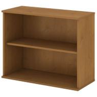 "Bush Business Furniture Bookcase 30""H 2-Shelf Natural Cherry - BK3036NC"