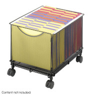 Safco Onyx Mesh Rolling File Cube - 5211BL