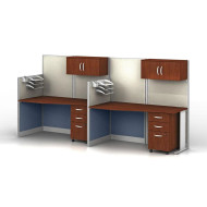 MONTHLY SPECIAL! Bush Furniture Office-in-an-Hour Desk Straight Workstation 2-units - OIAH005HC