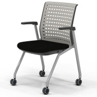 Mayline Thesis Training Chair with Static Back and Arms (2 pack) - KTS1