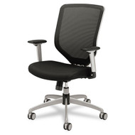 HON Boda Series High-Back Work Chair, Padded Mesh Seat, Mesh Back, Black - MH01MM10C