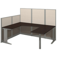 Bush Furniture Office-in-an-Hour U-Shaped Workstation Mocha - WC36896-03K