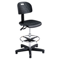 Safco Soft Tough Deluxe Workbench Stool with Articulating Seat/Back - 6912