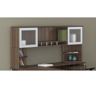 "Mayline Medina Laminate Desk Hutch 72"" Textured Brown Sugar Finish - MNH72-MNPO-TBS"