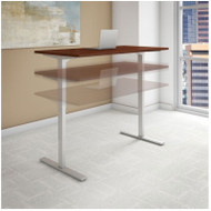 "Bush Business Furniture Series C 400 Height Adjustable Table Desk 60"" Hansen Cherry - HAT6030HCK"