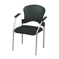 Eurotech by Raynor Breeze Side Chair without Casters, Gray Frame - FS8277