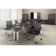 Mayline Transaction Series Conference Table 24' Boat Shaped Technology Intensive - TAC24TB