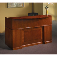 Mayline Sorrento Reception Station Desk with Veneer Bourbon Cherry - SRCD-SCR
