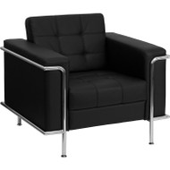 Flash Furniture Lesley Series Contemporary Black Leather Chair - ZB-LESLEY-8090-CHAIR-BK-GG