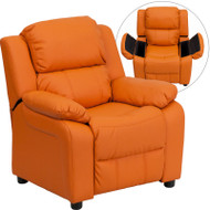 Flash Furniture Kid's Recliner with Storage Orange Vinyl - BT-7985-KID-ORANGE-GG
