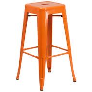 "Flash Furniture Orange Metal Indoor-Outdoor Barstool 30""H - CH-31320-30-OR-GG"