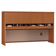 "Bush Business Furniture Series C Desk Hutch 4-Door 72"" Auburn Maple - WC48577K"