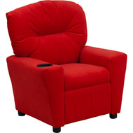 Flash Furniture Contemporary Kid's Recliner with Cup Holder Red Microfiber - BT-7950-KID-MIC-RED-GG