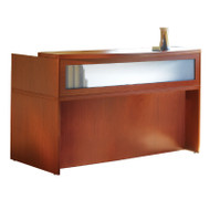 Mayline Aberdeen Reception Desk without Pedestal File Drawer Cherry Finish - ABEPackage3-LCR
