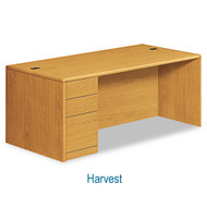 HON 10700 Series Single Pedestal Desk Left, Assembled - 10788L