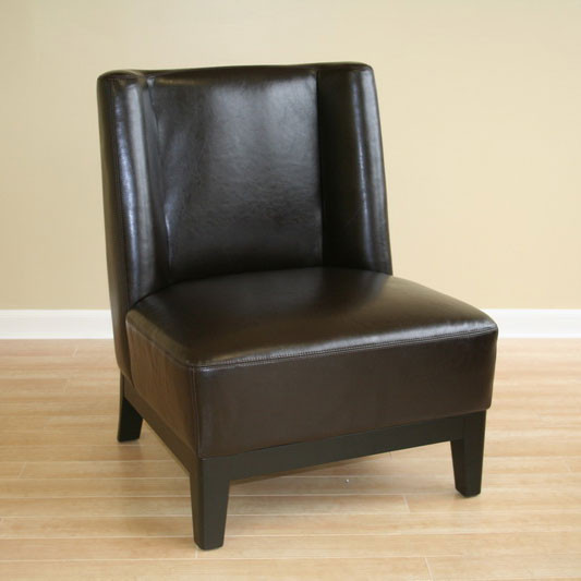 Remarkable Wholesale Interiors Cloten Leather Armless Accent Chair In Dark Brown A 179 001 Alphanode Cool Chair Designs And Ideas Alphanodeonline