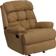 Flash Furniture Contemporary Beige Microfiber Rocker Recliner - BT-70016-MIC-BGE-GG