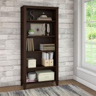 Bush Somerset Collection Bookcase 5-Shelf Mocha Cherry - WC81865