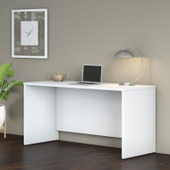 "Bush Business Furniture Studio C Credenza Desk 60"" White - SCD360WH"