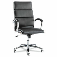 Alera Neratoli High-Back Soft-Touch Leather Chair Black - NR4119