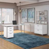 Kathy Ireland by Bush Method Collection 72W Desk with File Storage White - MTH026WHSU