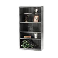 Mayline Aberdeen Bookcase 5-Shelf Gray Steel - AB5S36-LGS