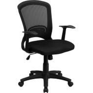 Flash Furniture Mid-Back Black Mesh Chair - HL-0007-GG