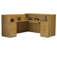 Mayline Luminary Reception Desk L-Shaped Maple - RSRBFM