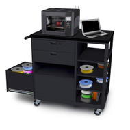 Marvel Mobile 3D Printer Deluxe Workstation with 2 Drawers - MVG3624BKBK-2
