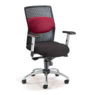 "OFM ""AirFlo"" Series Executive Task Chair with Silver Accents - 651"