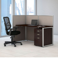 "MONTHLY SPECIAL! Bush Furniture Easy Office Straight Desk 60"" Open with Mobile File Cabinet - EOD160SMR-03K"