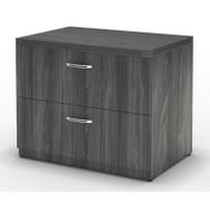 "Mayline Aberdeen Lateral File Cabinet 36"" Free Standing Gray Steel - AFLF36-LGS"