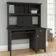 "Bush Furniture Salinas Desk and Hutch 48"" Vintage Black - MY72708-03"