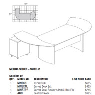 Mayline Medina Laminate Executive Package 1 Gray Steel - MNT1-LGS