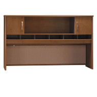 "Bush Business Furniture Series C Desk Hutch 2-Door 72"" Natural Cherry - WC72466K"