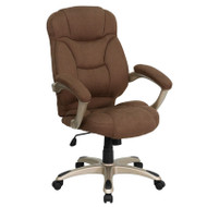 Flash Furniture High Back Brown Microfiber Contemporary Office Chair - GO-725-BN-GG