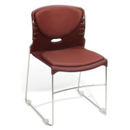 OFM Anti-bacterial Vinyl Seat and Back Stacking Chair (Pack of 4) - 320-VAM