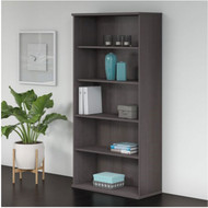 "Bush Business Furniture Studio C Bookcase 5-Shelf 36""W Storm Gray - SCB136SG"