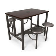 OFM Endure Series Standing Height Table with Seats - 9004
