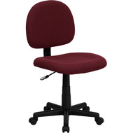 Flash Furniture Mid Back Ergonomic Burgundy Fabric Task Chair - BT-660-BY-GG